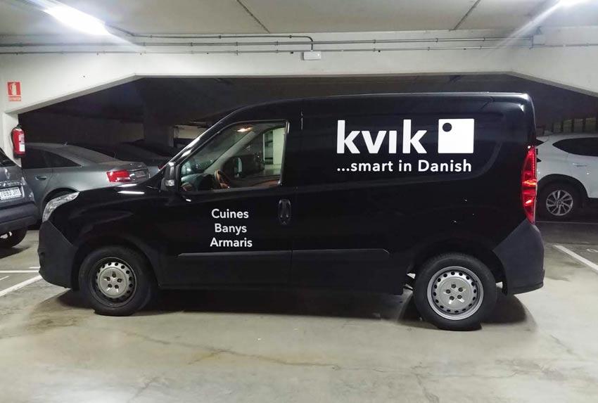 rotulación de furgoneta en Barcelona