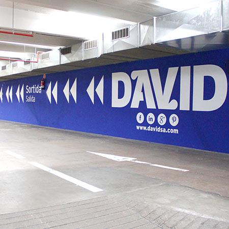 Rotulación de Parking en Barcelona
