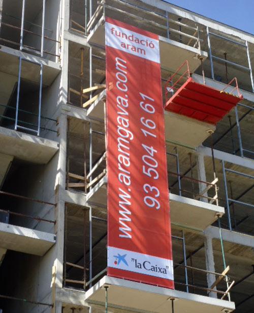 lona publicitaria para promociones inmobiliarias