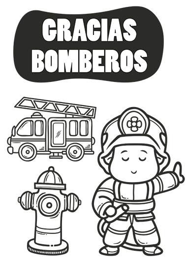 colorea al bombero