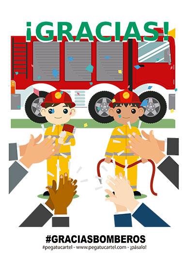 gracias bomberos