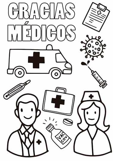 colorea a los medicos