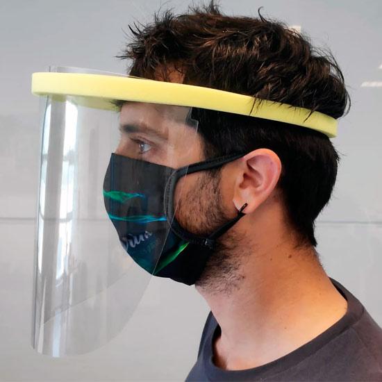 visera facial protectora