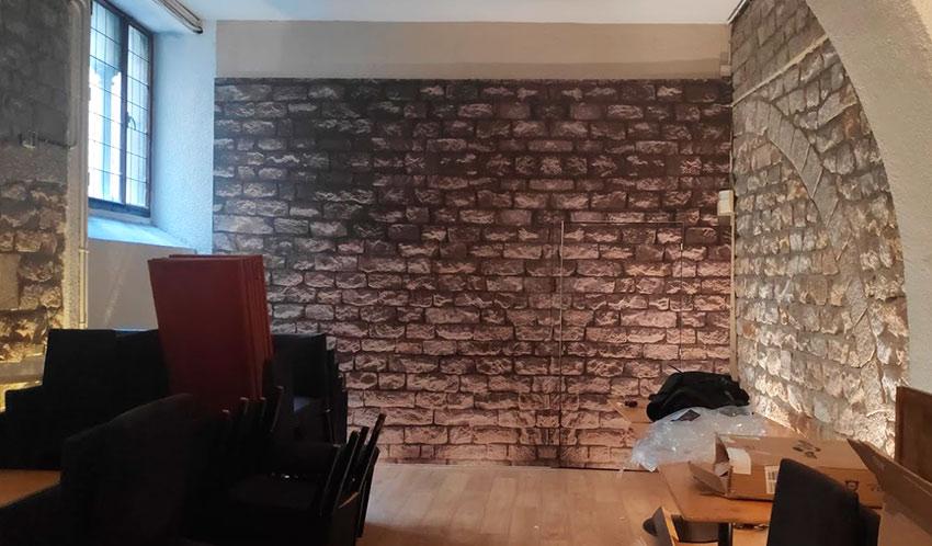 poner vinilo en pared
