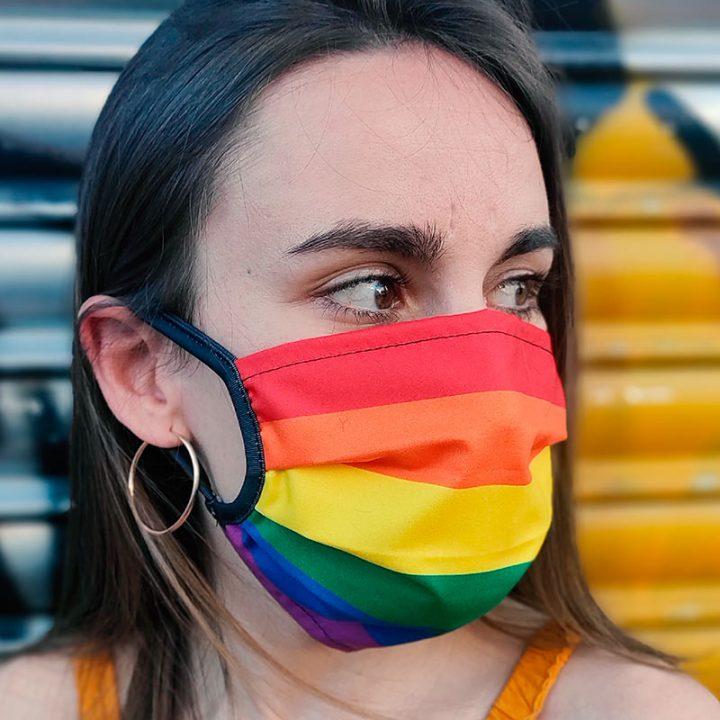 mascarilla arcoiris orgullo lgbt
