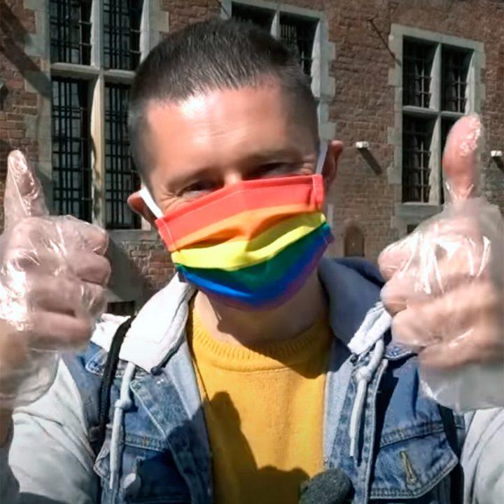mascarilla bandera orgullo gay