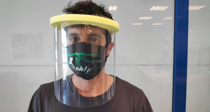 protectores mascarilla y visera facial