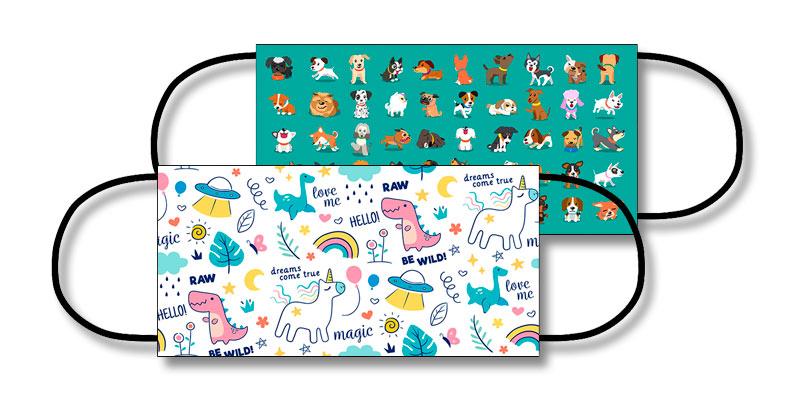 Mascarillas ffp2 personalizadas para niños