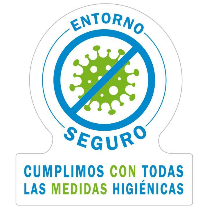 pegatina entorno seguro y libre de virus