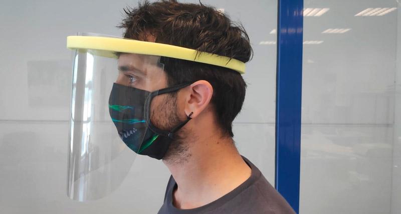 visera facial y mascarilla anti contagio