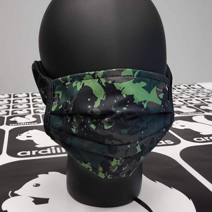 mascarilla reutilizable estampado de camuflaje