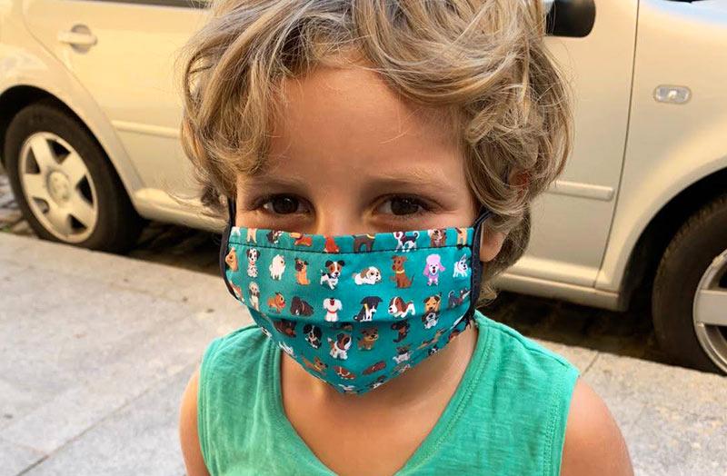 mascarilla reutilizable para niños