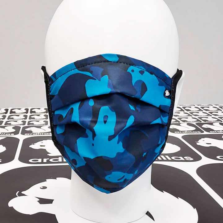 Mascarillas reutilizables Estampado camuflaje azul