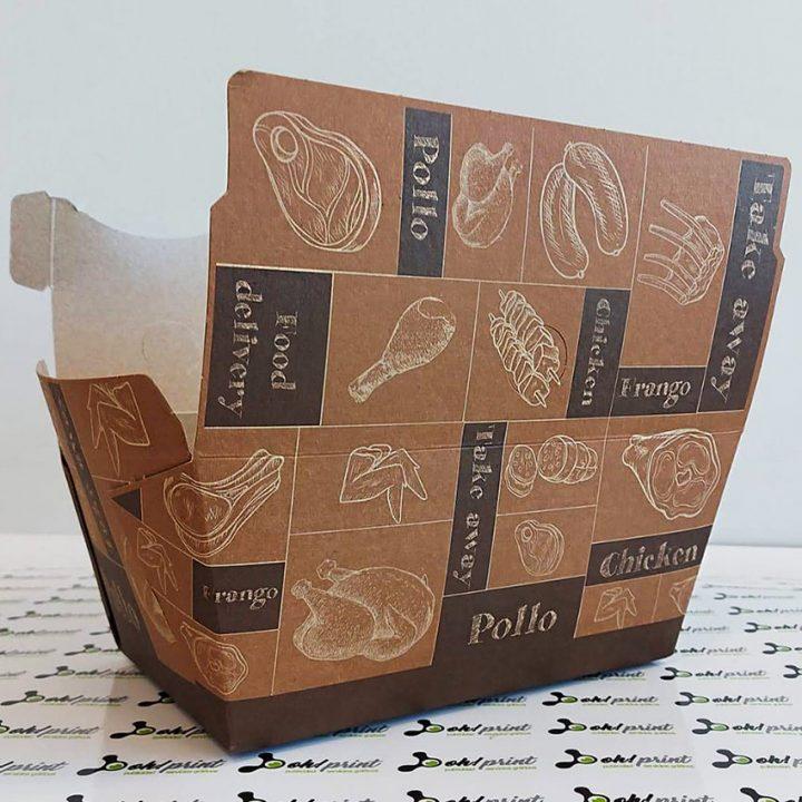 cajas para pollos para llevar