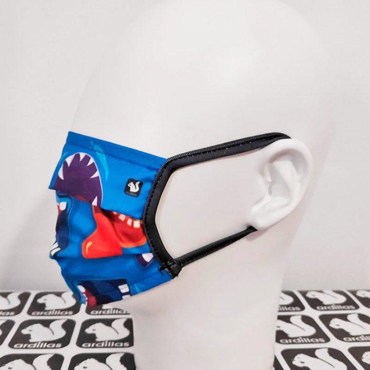Mascarilla para niños reutilizable diseño Mordiscos