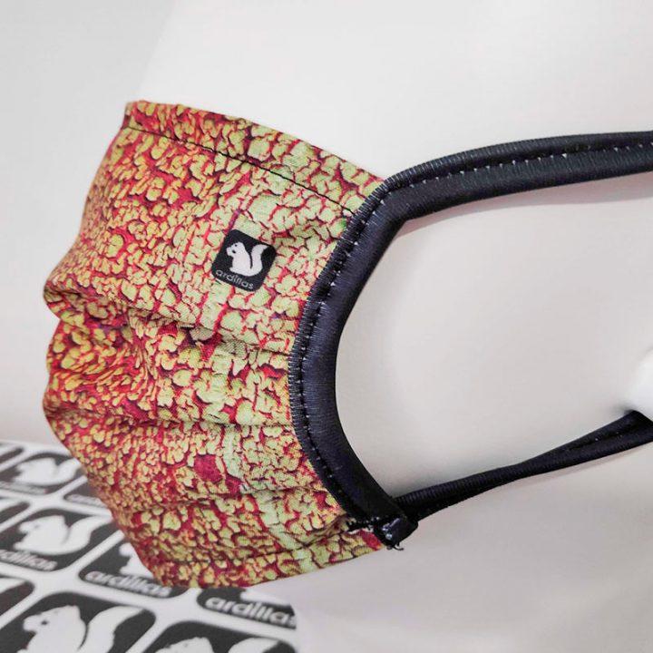 Mascarilla Ardillas diseño Óxido, reutilizable y lavable