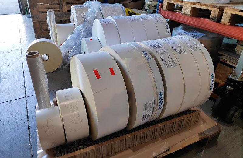 bobinas para la impresión de etiquetas