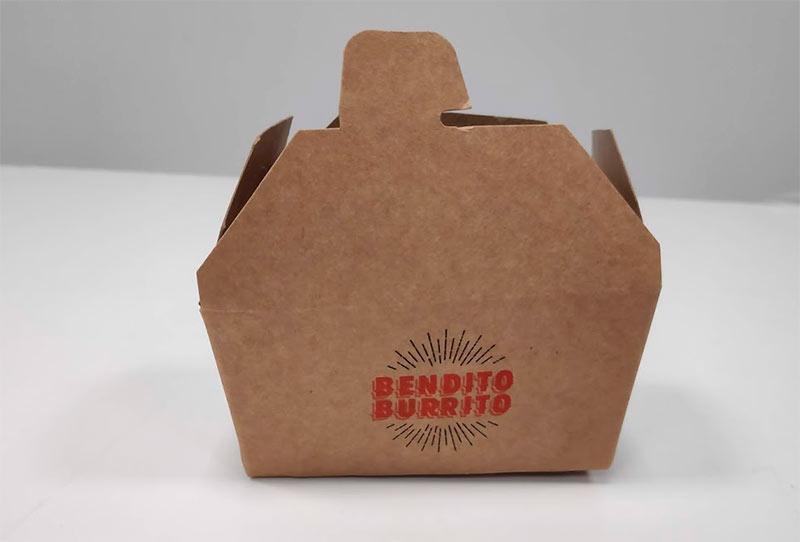 caja take away para burritos