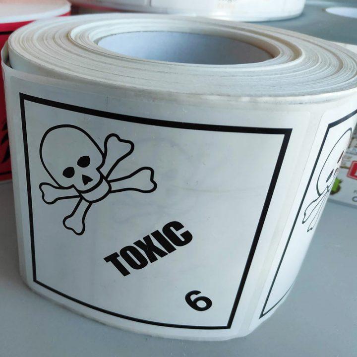 etiquetas para productos peligrosos