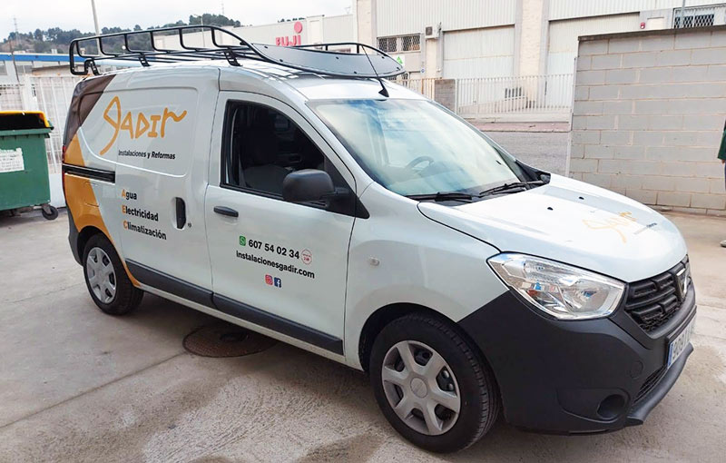 rotulación Dacia furgoneta con vinilo