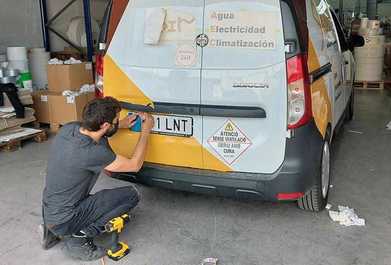 rotular furgoneta con vinilos