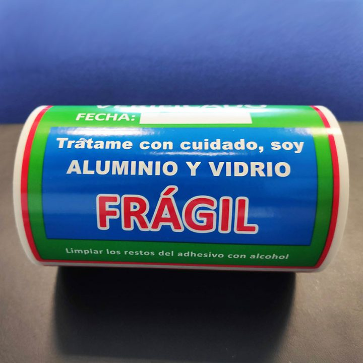etiqueta de polipropileno personalizada color