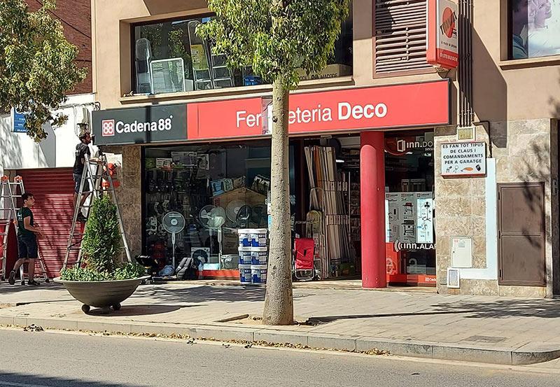 rotulo con luz en Barcelona